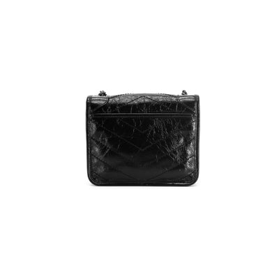 Saint Laurent Niki Chain Wallet Crossbody Black