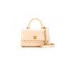 Chanel Mini coco handle chevron beige