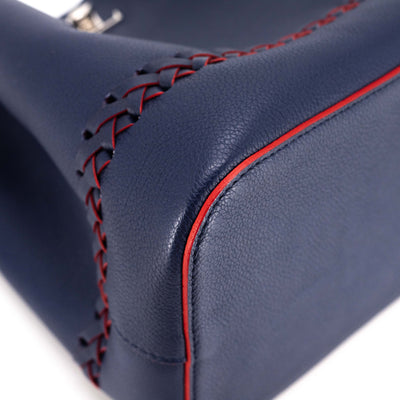 Louis Vuitton Marine Rouge Leather Lockme Bucket Bag