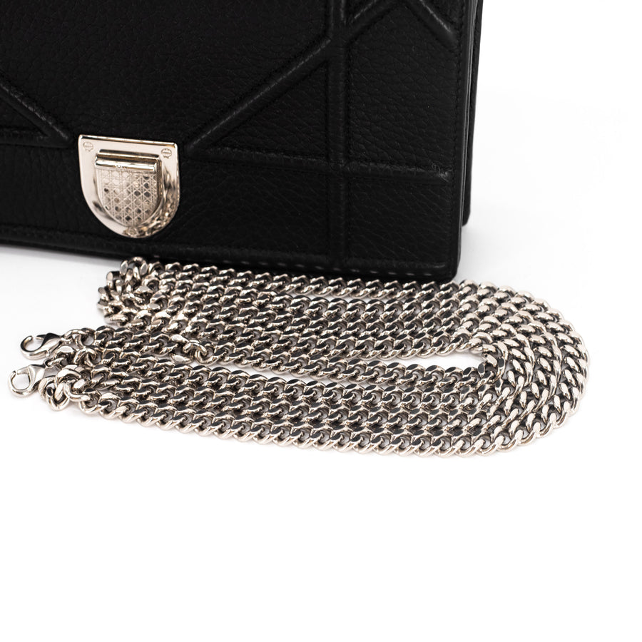 Dior Diorama Wallet On Chain WOC Black