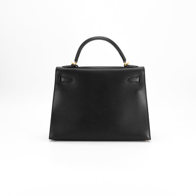 hermes black bag - back