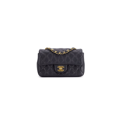 Chanel Black Caviar Rectangular Mini