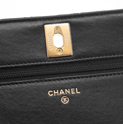 Chanel Trendy Wallet On Chain WOC Black