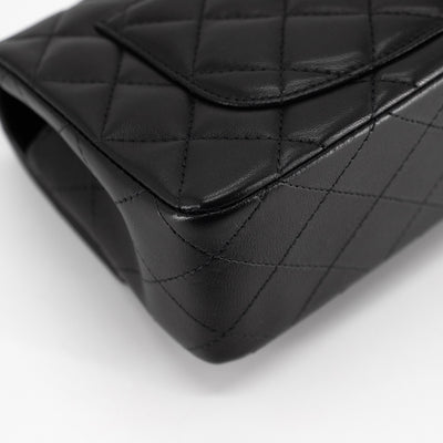Chanel Quilted Lambskin Rectangular Mini Black