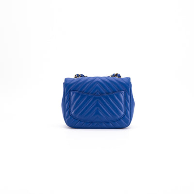 Chanel Chevron Square Mini Blue