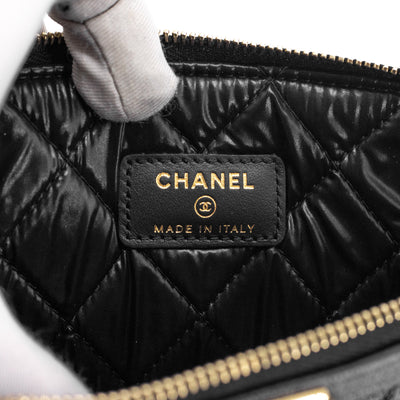 Chanel Quilted Caviar Boy O Case Black