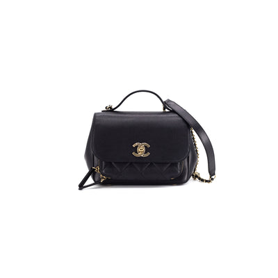 Chanel Small Business Affinity Black Caviar with Burgundy leather interior (not fabric)