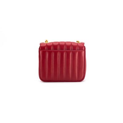 Saint Laurent Vicky Chain Wallet Red