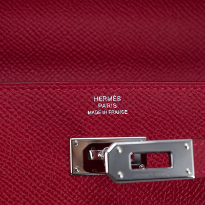 Hermes Kelly To Go Wallet On Chain Rouge Casaque