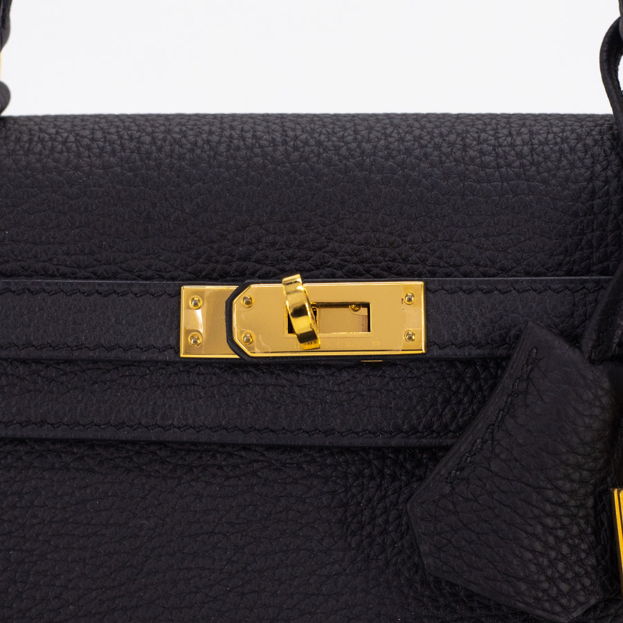 Hermes Kelly 25 Noir - A Stamp