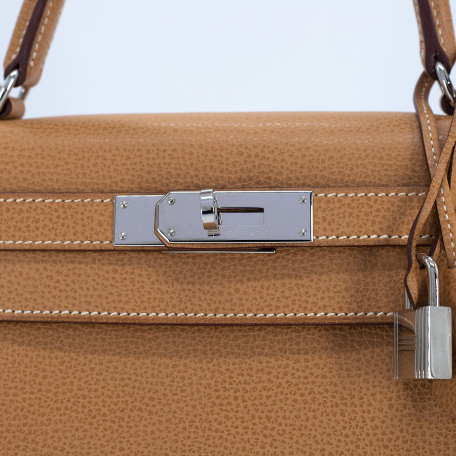 Hermes Kelly Liegee Brown 28 Sellier - [J] Stamp