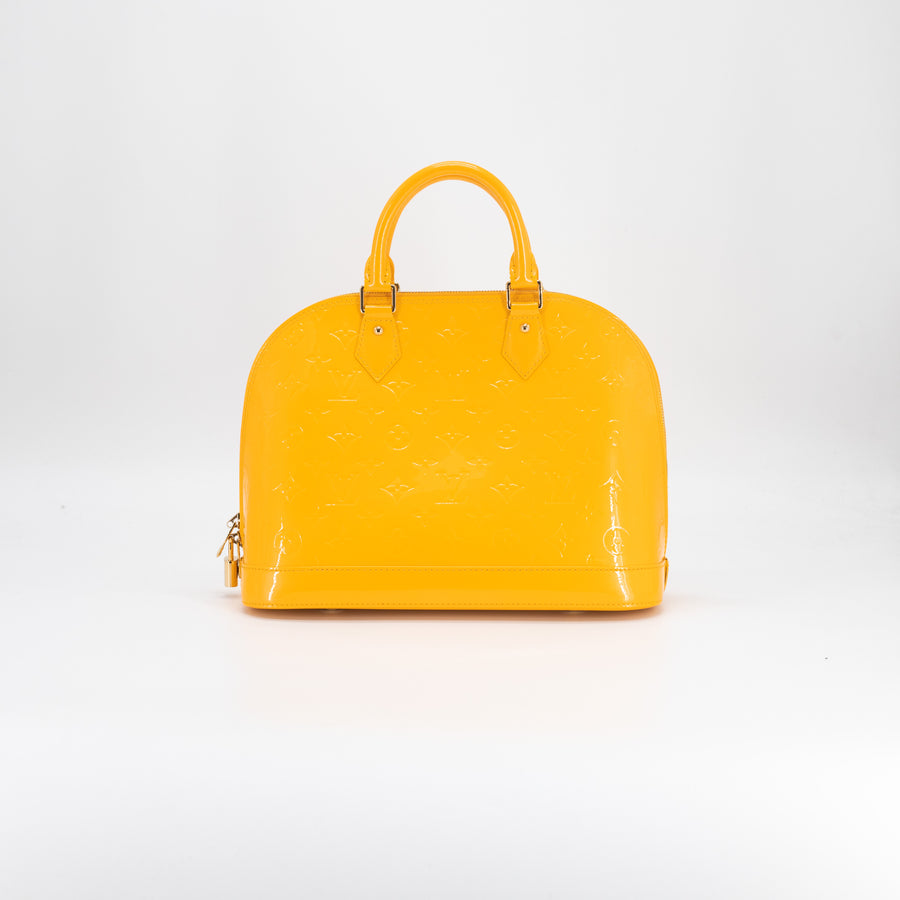 Louis Vuitton Vernis Monogram Alma PM Yellow