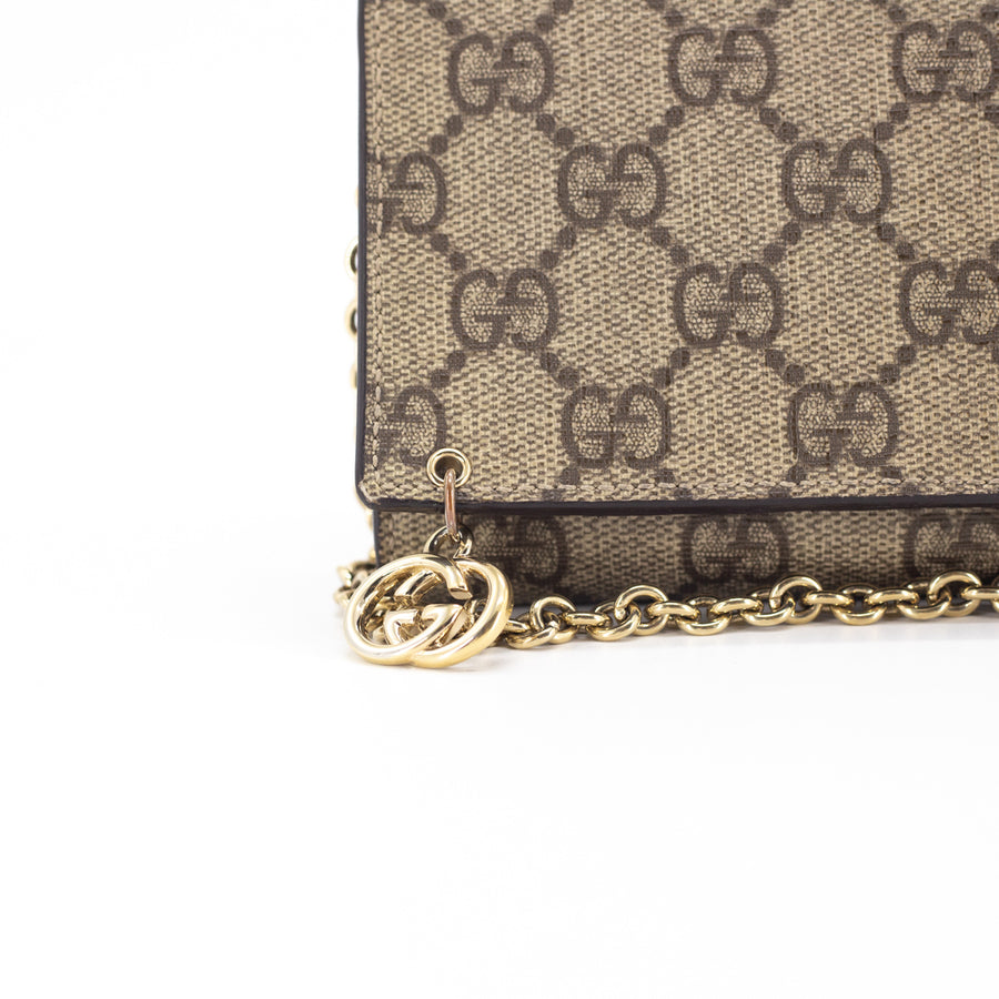 Gucci Clutch On Chain GG Supreme