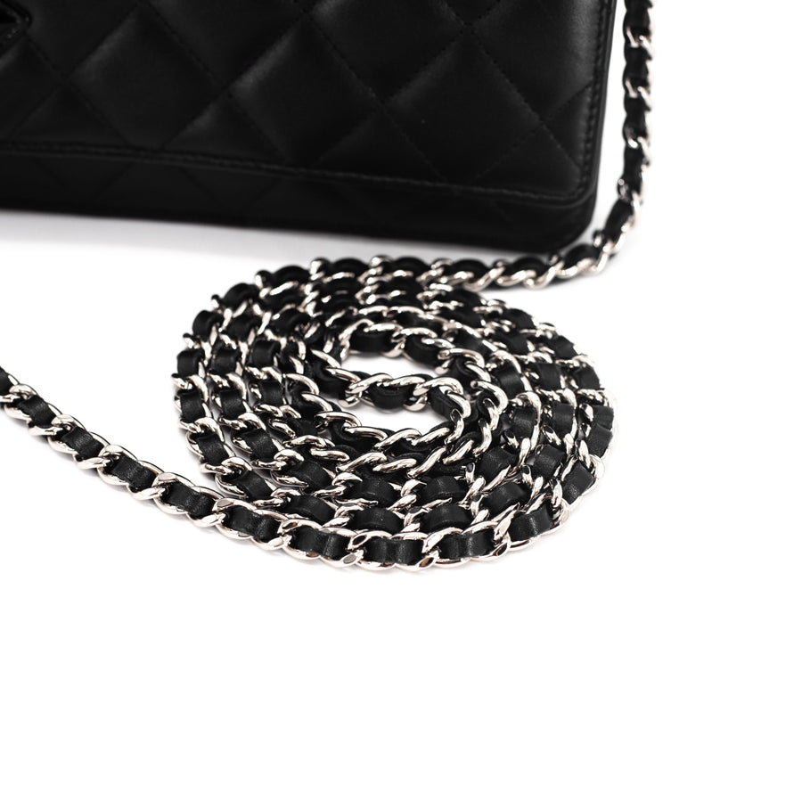 Chanel Rue Cambon Wallet On Chain WOC Black