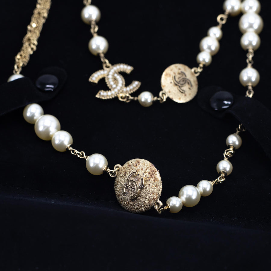 Chanel Pearl Necklace (wear single or double strand)