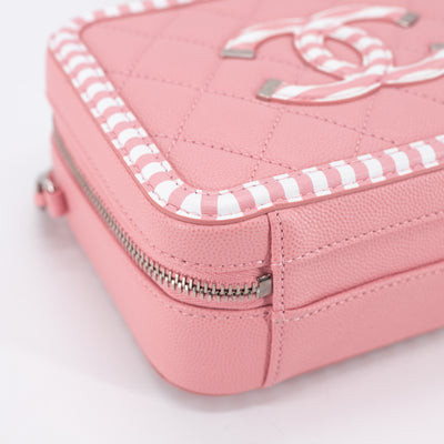 Chanel 19C Small Filigree Vanity Case Crossbody Pink
