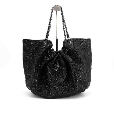 Chanel Quilted Patent Black Tote