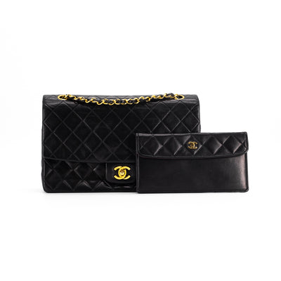Chanel Vintage Special Edition Classic Flap Medium/Large Black