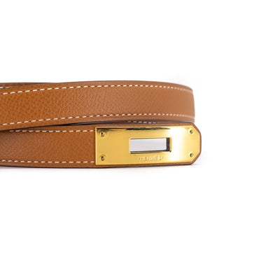 Hermes Kelly Belt Gold