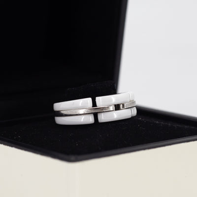 Chanel Ceramic Ring White Gold  Size 51
