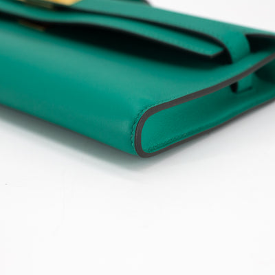Hermes Kelly Cut Vert Verone Swift GHW