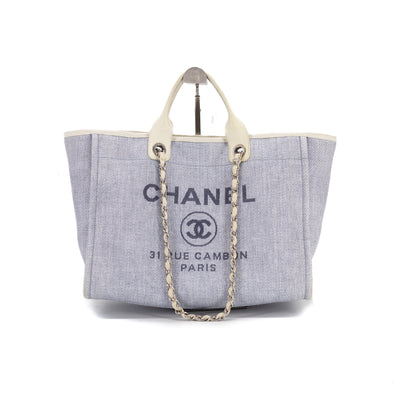 Chanel Medium Deauville Tote Light Blue