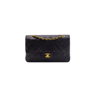 Chanel Vintage Medium/Large Classic Flap 24K Black