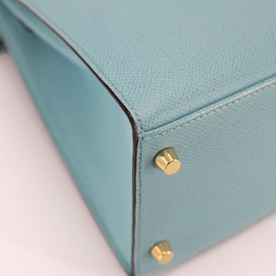 Hermes Kelly 28 3P Lagon Blue
