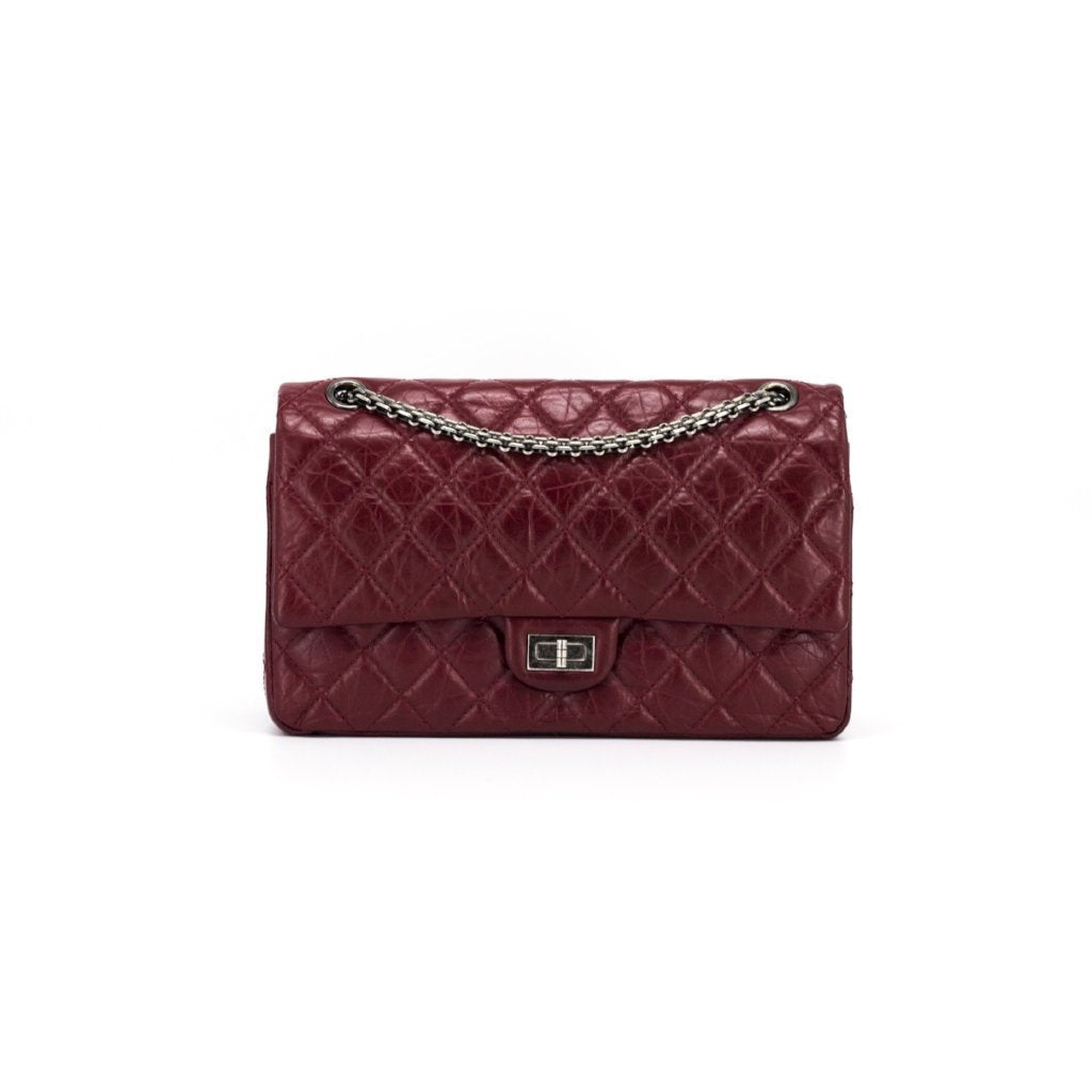 212715a33d05 CHANEL Aged Calfskin Quilted 2.55 Reissue 226 Flap Red - THE PURSE AFFAIR