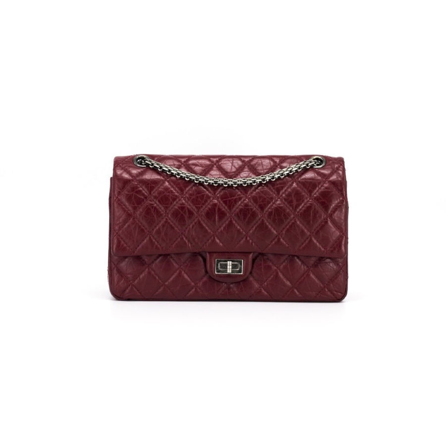 ac45cc69b40b CHANEL Aged Calfskin Quilted 2.55 Reissue 226 Flap Red