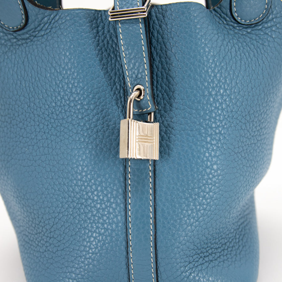Hermes Picotin 18 Light Blue