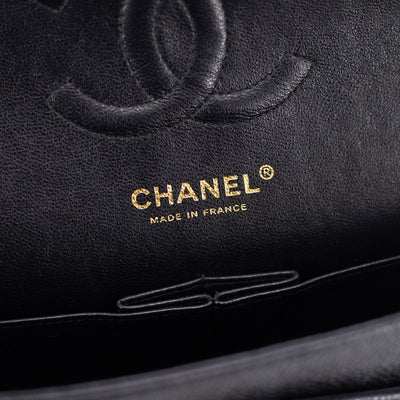 Chanel Quilted Caviar Medium/Large Classic Flap Black 24k GHW