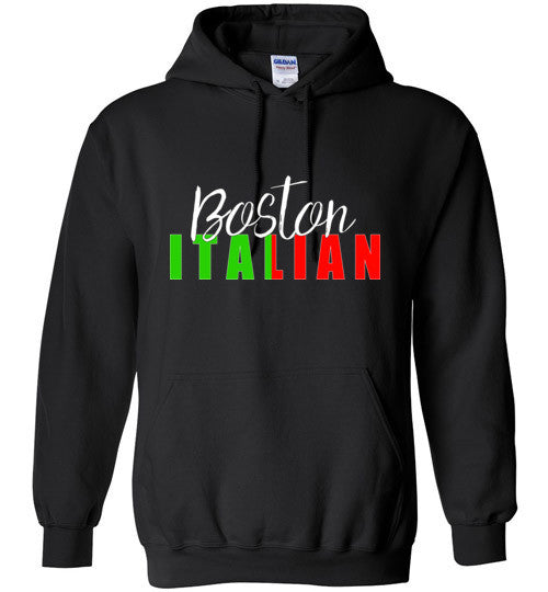 Boston Italian - Dark Colored Pull Over Hoodie - Ciao Bella Ltd T-Shirts