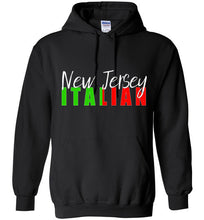 New Jersey Italian Dark Color Pull Over Hoodie - Ciao Bella Ltd T-Shirts