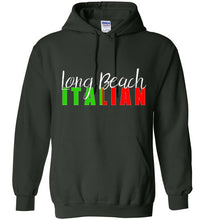 Long Beach Italian Dark Color Pull Over Hoodie - Ciao Bella Ltd T-Shirts