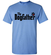 The Dogfather Pawprint Tee Shirt (Black font)