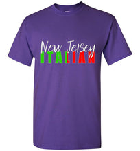 New Jersey Italian Short Sleeve Black T-Shirt - Ciao Bella Ltd T-Shirts