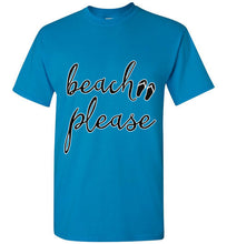 Beach Please - Short Sleeve Unisex Crew Neck T-Shirt