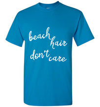 Beach Hair Don't Care - Dark Colored Unisex Crew Neck T-Shirt - Ciao Bella Ltd T-Shirts