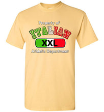 Property of Italian Athletic Department Crew Neck Short Sleeve T-Shirt - Ciao Bella Ltd T-Shirts