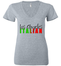 Los Angeles Italian Ladies Deep V-Neck Fashion Tee - Ciao Bella Ltd T-Shirts