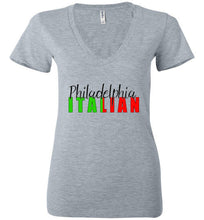 Philadelphia Italian Ladies Fashionable V-Neck Short Sleeve T-Shirt - Ciao Bella Ltd T-Shirts