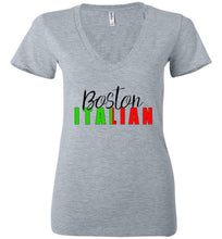 Boston Italian - Ladies Deep V-Neck T-Shirt - Ciao Bella Ltd T-Shirts