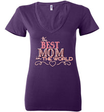 The Best Mom in the World Deep V-Neck Short Sleeve Tee - Ciao Bella Ltd T-Shirts