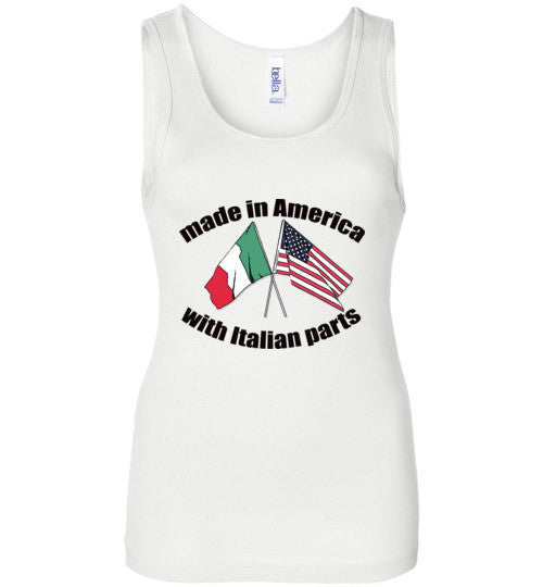 Made in America with Italian Parts - Wide Strap Tank Top - Ciao Bella Ltd T-Shirts
