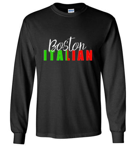 Boston Italian - Dark Colored Long Sleeve Unisex T-Shirt - Ciao Bella Ltd T-Shirts