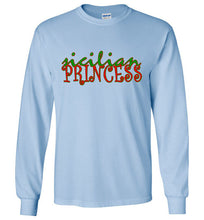 Sicilian Princess Crew Neck Long Sleeve T-Shirt - Ciao Bella Ltd T-Shirts