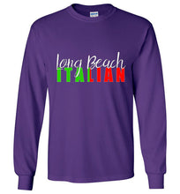 Long Beach Italian Dark Color Long Sleeve T-Shirt - Ciao Bella Ltd T-Shirts