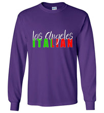 Los Angeles Italian Dark Color Crew Neck Unisex Long Sleeve T-Shirt - Ciao Bella Ltd T-Shirts