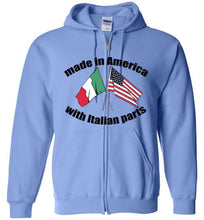 Made in America with Italian Parts - Zipper Hoodie - Ciao Bella Ltd T-Shirts